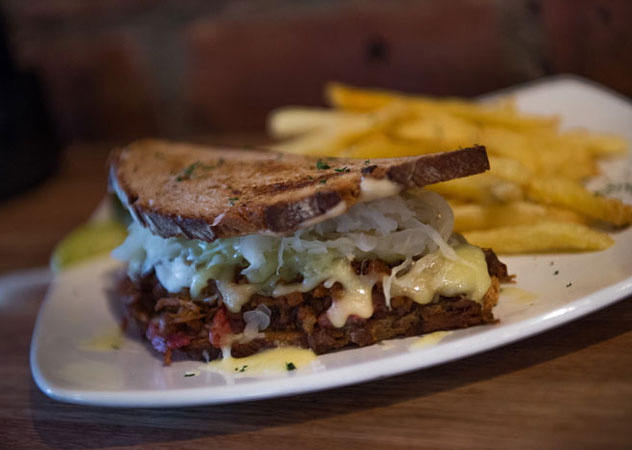 The pulled pork Reuben at The Smokehouse. Photo courtesy of the restaurant.