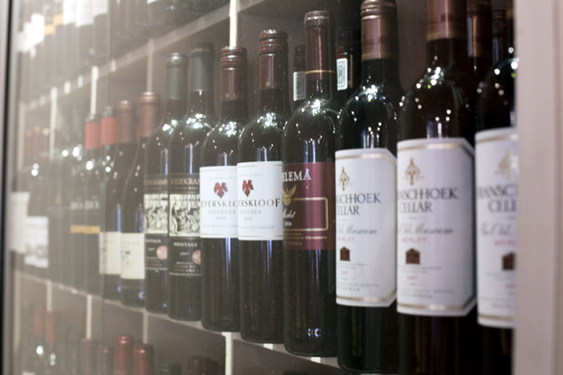 The wine selection at Prosopa. Photo courtesy of the restaurant.