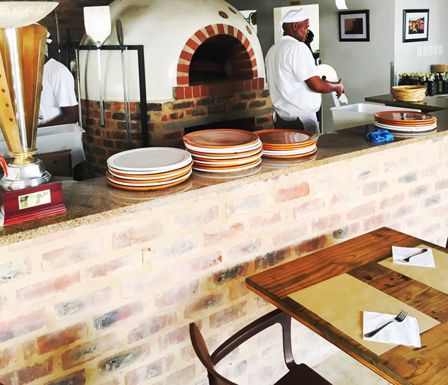 The pizza oven at Alfie's Pizzeria. Photo: supplied.
