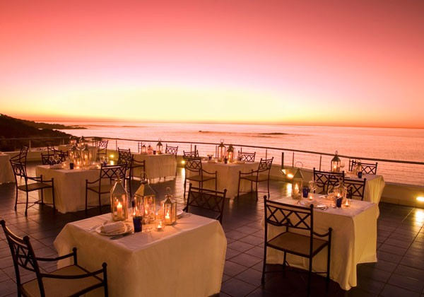 Sunset views at Azure at The Twelve Apostles Hotel & Spa. Photo supplied.