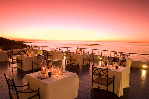 Sunset views at Azure at The Twelve Apostles Hotel & Spa. Photo courtesy of the restaurant.