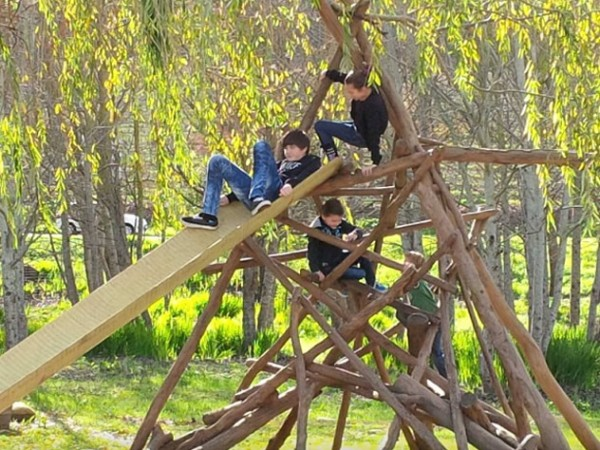 Children on a jungle gym at Bon Amis. Photo supplied.