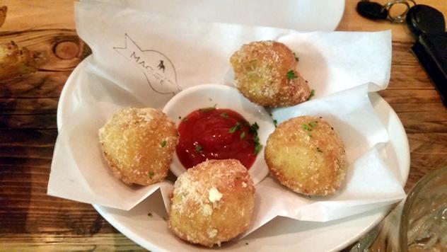 Cape crayfish mac 'n cheese balls at Maggie's. Photo courtesy of Lauren Josephs.