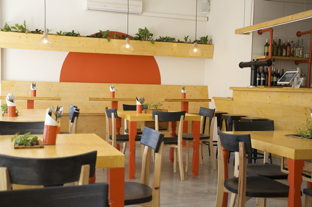 The interior at IYO Burgers. Photo courtesy of the restaurant.