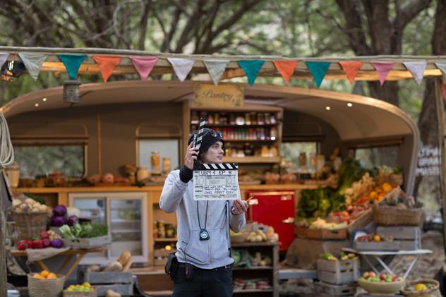 Film crew on the set of Ultimate Braai Master.