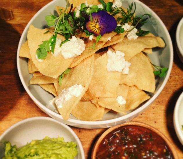 The light nachos at El Pistolero. Photo courtesy of Alida Ryder.
