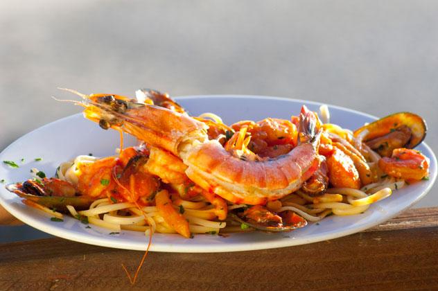 Seafood pasta at Ristorante Enrico.