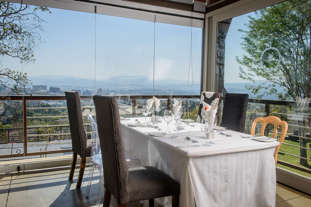 Lunch with a view at the Orange Restaurant. Photo courtesy of the restaurant.