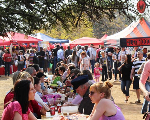 Hazel Food Market tables