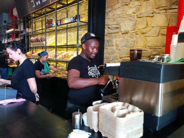 The coffee machine at Jason Bakery. Photo courtesy of Katharine Jacobs.