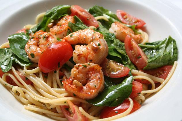 Seafood pasta at Il Leone Mastrontonio.