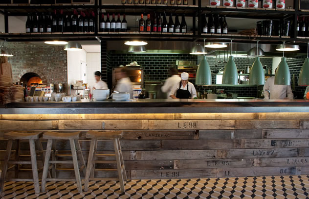A view of the kitchen at The Millhouse Kitchen. Photo courtesy of the restaurant.