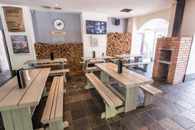 Inside at The Warthog. Photo courtesy of the restaurant.