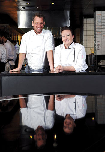 Chefs Luke Dale-Roberts and Candice Philip. Photo courtesy of the restaurant.