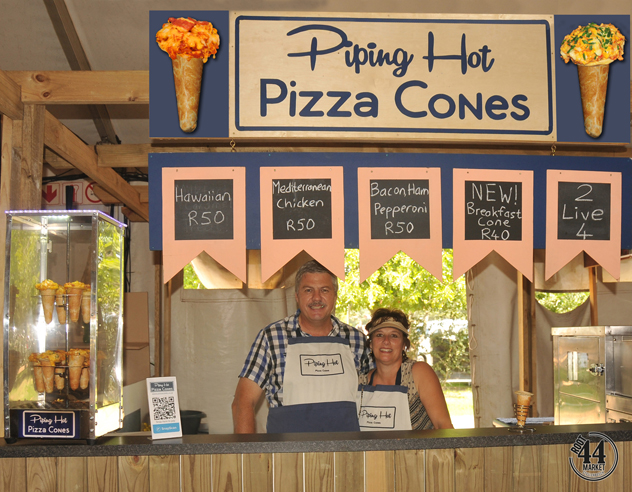 Piping Hot Pizza Cones