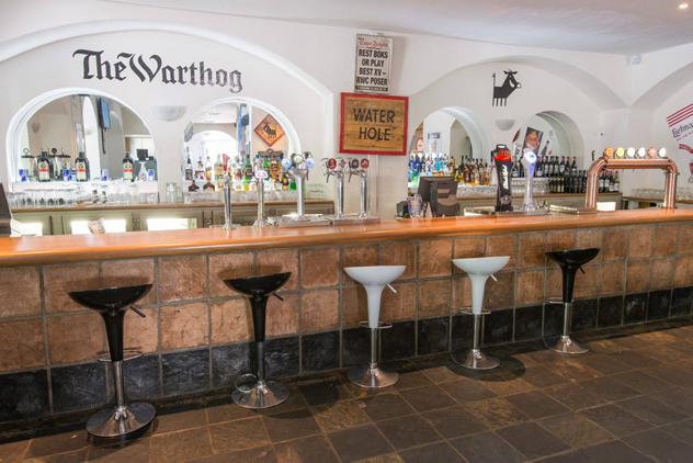 The bar at The Warthog. Photo courtesy of the restaurant.