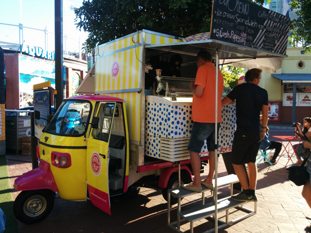 The food truck in situ outside The Watershed at the V&A Waterfront. Photo by Katharine Jacobs.