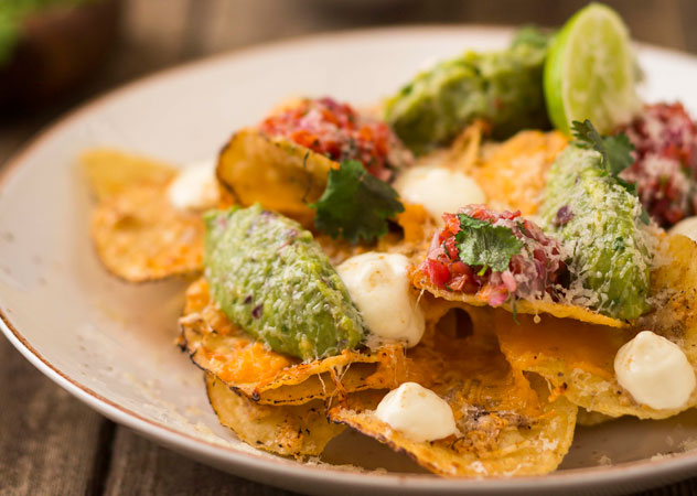The spiced nachos at Tuk Tuk Microbrewery in Franschhoek. Photo courtesy of the restaurant.