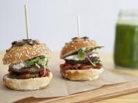 Veggie Mini Burgers and Green Juice