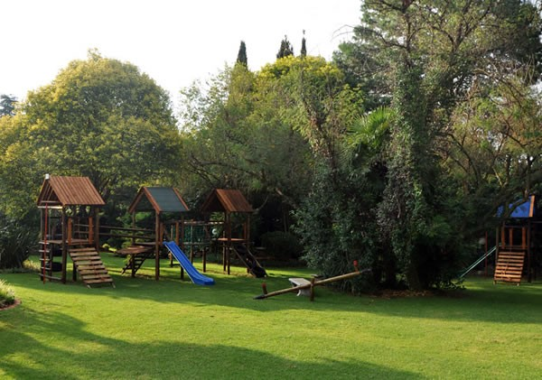 The outdoor play area at Willow Feather. Photo supplied.