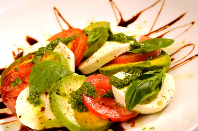 A caprese salad at Café del Sol.
