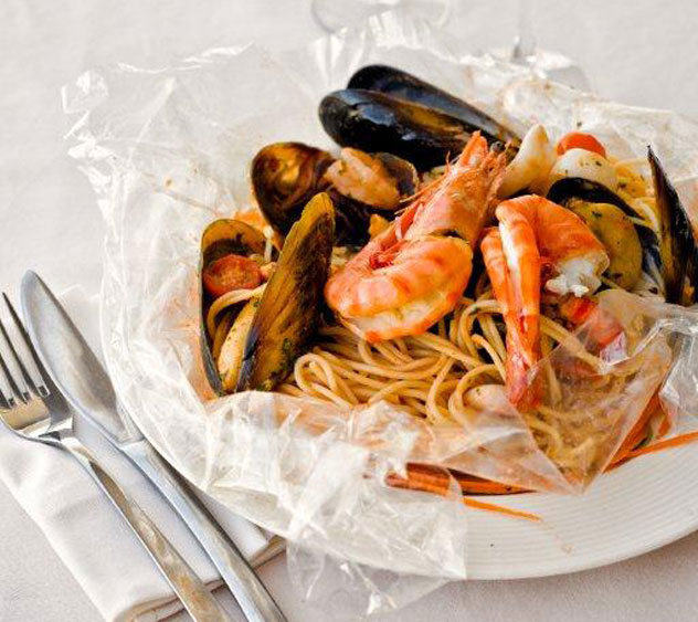 Seafood pasta at Meloncino.