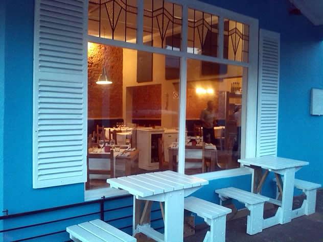 Outside at Pesce Azzuro. Photo courtesy of the restaurant.