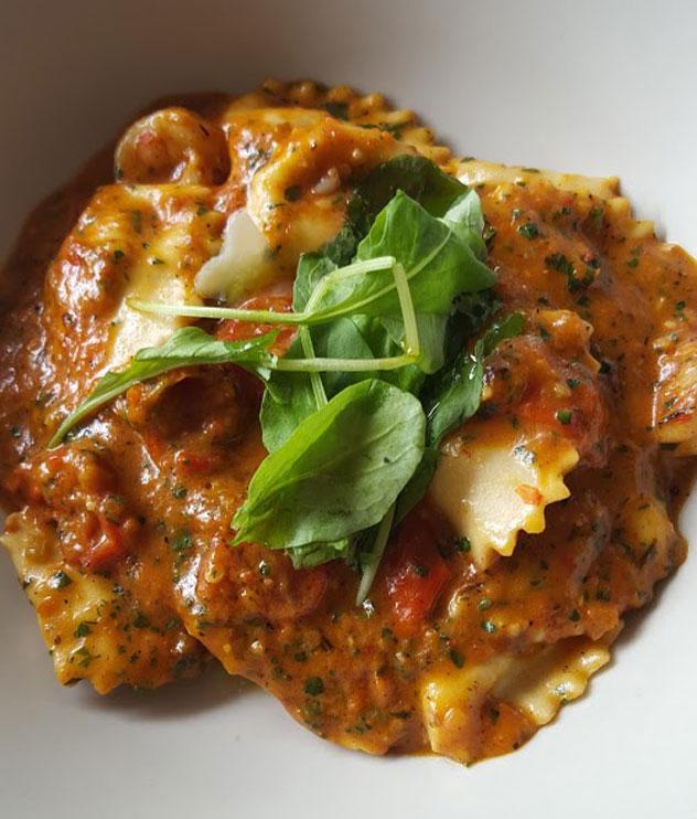 The prawn and chorizo panzerotti at Ray's Kitchen. Photo courtesy of Nikita Buxton.
