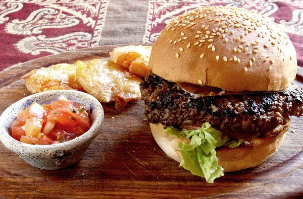 A burger at Hout Bay's Ragafellows. Photo supplied.