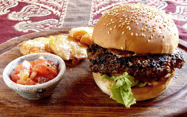 A burger at Hout Bay's Ragafellows. Photo courtesy of the restaurant.