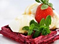 Urth's red velvet waffle