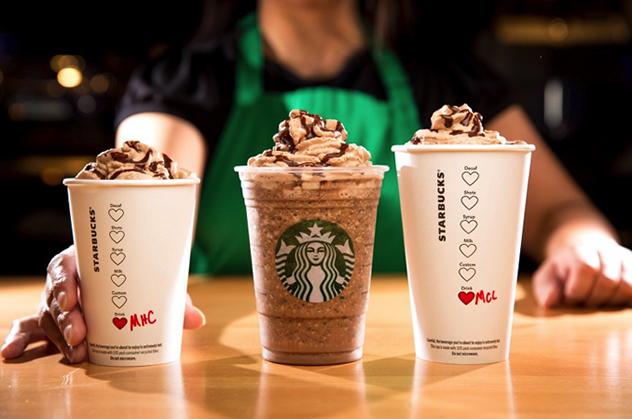Starbucks Molten Chocolate Beverages.