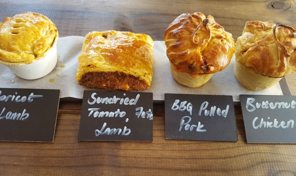 Smaak's selection of gourmet pies. Photo supplied.