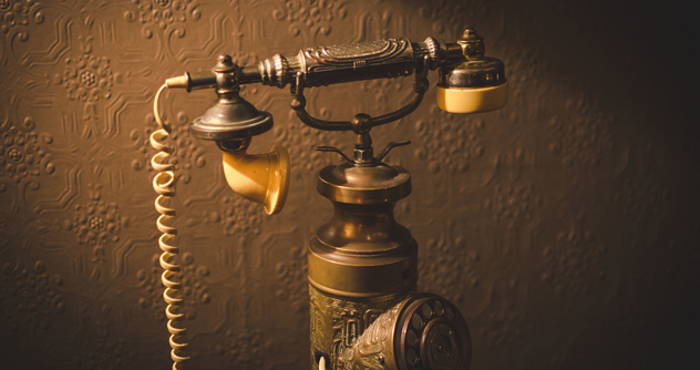 A converted rotary dial phone at Alexander Bar. Photo by Karma Just Far.