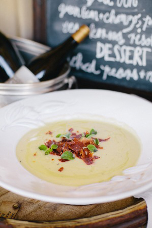 A Potter's Gallery bowl used at Gabrielskloof Restaurant. Photo courtesy of Gabrielskloof.