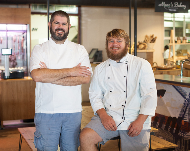 The two bearded chefs Nic van Wyk and Westley Muller. Photo supplied.