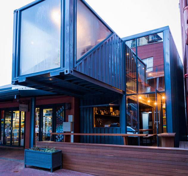 The converted container housing Naturalis. Photo supplied.