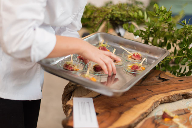 A variety of canapés were on offer at ROOTS. Photo by ST Photography.