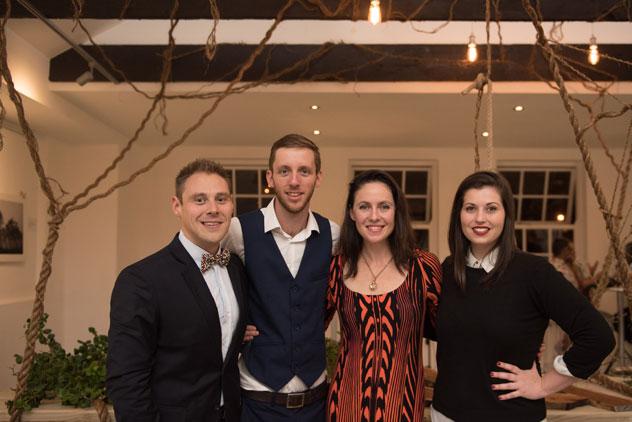 From left: Gregory Zeleny, founder; Dean Hoffman, creative director; Caro de Waal; and Charlotte van Kradenburg, managing director. Photo by ST Photography.