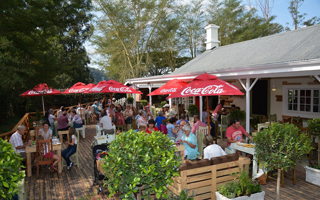 The deck at Sagewood Cafe