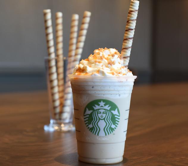 The iconic Starbucks frappuccino