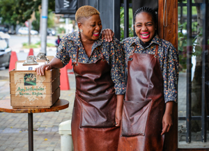 Two team members at Trio Cafe. Photo by Lisa Skinner/Skinnderella