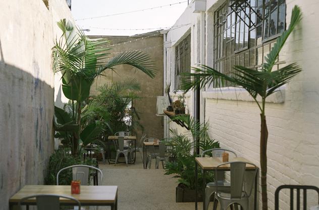 Warm & Glad courtyard