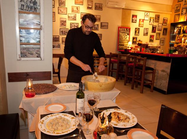 Wheel of parmesan at The Cousins