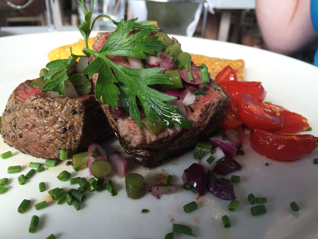 The beef fillet special with green peppercorns. Photo by Irna van Zyl.