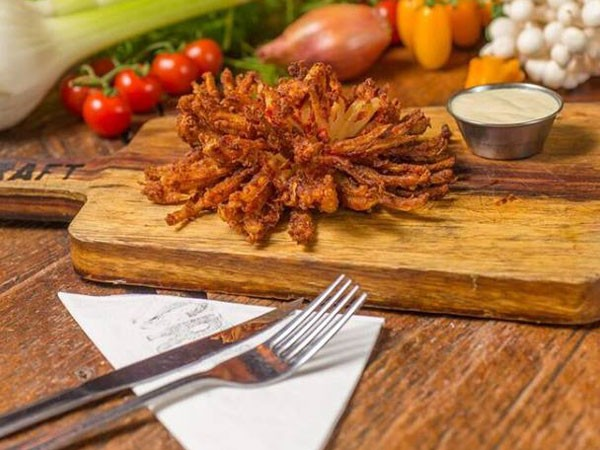 A blooming onion from Craft. Photo supplied.