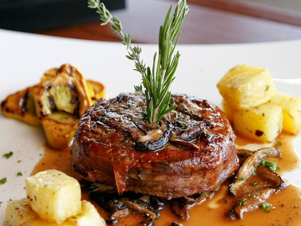 The steak at Fiamma Grill. Photo supplied.