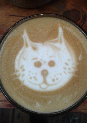 Coffee art at Marley Coffee.