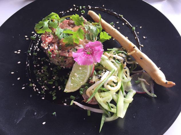 Asian-style steak tartare. Photo by Irna van Zyl.