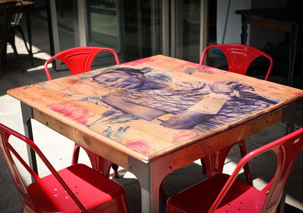 An African themed table at Milk Bar. Photo courtesy of the restaurant.